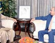 اسلام آباد: صدر مملکت ڈاکٹر عارف علوی سے مشیر خزانہ ڈاکٹر عبدالحفیظ ..