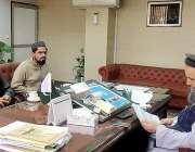 اسلام آباد: وفاقی وزیر مذہبی امور مولانا نوارالحق قادری سے سابق وزیر ..