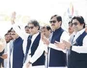 پشاور: سینئر صوبائی وزیر محمد عاطف خان قبائلی اضلاع سپورٹس فیسیول میں ..