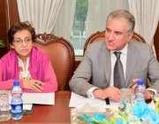 اسلام آباد: وزیر خارجہ مخدوم شاہ محمود قریشی وزارت خارجہ میں اہم مشاورتی ..