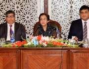 اسلام آباد: سیکرٹری خارجہ تہمینہ جنجوعہ پریس کانفرنس سے خطاب کر رہی ..