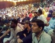 """کراچی: آرٹس کونسل کراچی میں پیپلز پارٹی کی جانب سے منعقدہ سیمینار""""5جولائی .."""