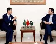 اسلام آباد:چینی سفیر مسٹر جیو جینگ نے وفاقی وزیر برائے معاشی امور مسٹر ..