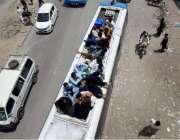 راولپنڈی: عید اپنے پیاروں کے ساتھ منانے کے لیے آبائی علاقوں کو جانے ..