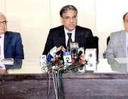 لاہور: وفاقی محتسب سید طاہر شہباز میڈیا کو بریفنگ دے رہے ہیں۔