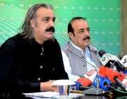 اسلام آباد: امور کشمیر و گلگت بلتستان کے وفاقی وزیر علی امین خان گنڈا ..