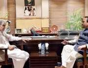 اسلام آباد: وزیر اعلیٰ گلگت بلتستان حافظ حفیظ الرحمن سے وفاقی سیکرٹری ..