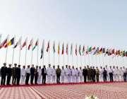 کراچی: امن مشقوں میں حصہ لینے والی چھیالیس ممالک کی افواج کے آفیشلز ..