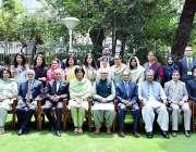 اسلام آباد: صدر مملکت ڈاکٹر عارف علوی کا سیمینار کے موقع پر دیگر کے ..