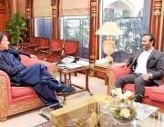 اسلام آباد: وزیر اعظم عمران خان سے ایم ڈی پاکستان بیت المال عون عباس ..