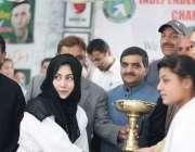ایبٹ آباد :رکن صوبائی اسمبلی مومنہ باسط ایبٹ آباد گرلز سپورٹس گالا ..