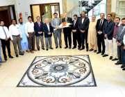 راولپنڈی: چئیر مین سٹینڈنگ کمیٹی شاہد قوم اور چوہدری نوید کاوفد کے ..