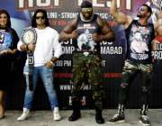"""اسلام آباد: روپ فیسٹ انٹرنیشنل ریسلرز جناح اسٹیڈیم میں """"مضبوط انسان"""" .."""