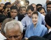 لا ہور: مسلم لیگ (ن) کی نائب صدر مریم نواز کو احتساب عدالت میں پیشی کیلئے ..