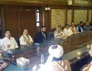 لاہور: مسلم لیگ (ن) کے سیکرٹری جنرل احسن اقبال ماڈل ٹاؤن سیکرٹریٹ میں ..