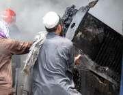 راولپنڈی: چاندنی چوک کے قریب الیکٹرونکس مارکیٹ میں لگنے والی آگ کے ..