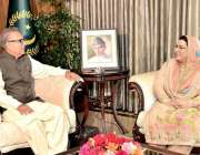 اسلام آباد: صدر مملکت ڈاکٹر عارف علوی سے وزیر اعظم کی معاون خصوصی ڈاکٹر ..