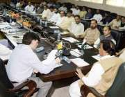 مظفر آباد: محکمہ لوکل گورنمنٹ کے جائزہ اجلاس سے وزیر لوکل گورنمنٹ راجہ ..