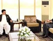 اسلام آباد: قائم مقام صدر محمد صادق سنجرانی سینیٹر مرزا محمد آفریدی ..