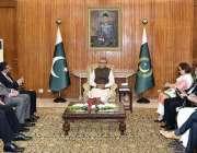 اسلام آباد: صدر مملکت ڈاکٹر عارف علوی سے انسٹیٹیوٹ آف چارٹڈٹ اکاؤنٹینٹس ..