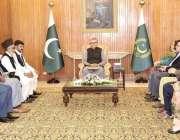 اسلام آباد: صدر مملکت ڈاکٹر عارف علوی سے ایسوسی ایشن آف دی بلائنڈ کا ..