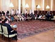 اسلام آباد: صدر مملکت ڈاکٹر عارف علوی سندھ مدرستہ الاسلام یونیورسٹی ..