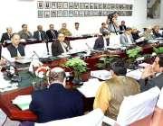 اسلام آباد: وزیر اعظم کے معاون خصوصی برائے ریونیوڈاکٹر عبدالحفیظ شیخ ..
