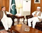 اسلام آباد: وزیر خارجہ شاہ محمود قریشی سے جماعت اسلامی کے امیر سینیٹر ..