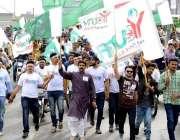 لاہور: یوتھ فورم کشمیر کے زیر اہتمام یوم الحاق پاکستان کے موقع پر نکالی ..