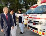 اسلام آباد: جاپان کے سفیرکنینوری مستودا گورنمنٹ آف جاپان کی جانب سے ..