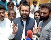 فیصل آباد: وفاقی پارلیمنٹری سیکرٹری برائے ریلوے ایم این اے فرخ حبیب ..