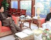 اسلام آباد: وزیراعظم عمران خان سے سنیٹرولیداقبال وزیراعظم آفس میں ..
