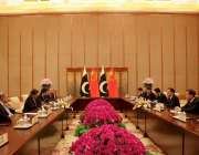 بیجنگ: چینی وزیر اعظم لی کی چیانگ اور وزیر اعظم عمران خان اپنے وفود ..