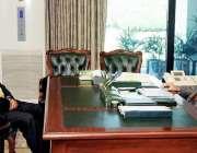 اسلام آباد: صدر مملکت ڈاکٹر عارف علوی سے سینیٹر محسن عزیز ملاقات کر ..