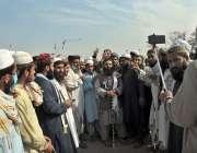 اسلام آباد: جے یو آئی (ف) کے آزادی مارچ میں  شریک کارکن
