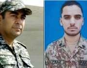 مہمند : پاک افغان سرحد پردھما کے میں شہید ہونیوالے میجر عدیل اور سپاہی ..