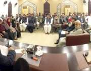 لاہور: پاکستان عوامی تحریک کے سربراہ ڈاکٹر طاہرالقادری سینئر رہنماؤں ..