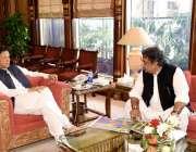 اسلام آباد :وزیر اعظم عمران خان سے وزیر برائے بحری امور علی زیدی ملاقات ..