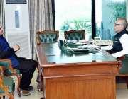 اسلام آباد: صدر مملکت ڈاکٹر عارف علوی سے سینیٹر فیصل جاوید ملاقات کر ..
