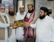 لاہور: جامع مسجد عرفان میں علامہ مجاہد عبدالرسول، مولانا شفاقت علی ..