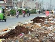 فیصل آباد: ناروالا روڈ کنارے پڑا کچرے کا ڈھیر انتظامیہ کا منہ چڑا رہا ..