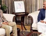 اسلام آباد: صدر مملکت ڈاکٹر عارف علوی سے ندیم افضل چن ملاقات کر رہے ..