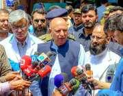 لاہور: گورنر پنجاب چوہدری محمد سرور داتا دربار خود کش دھماکے کے زخمیوں ..