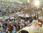 ظفر وال: پاکستان مسلم لیگ (ن) کی نائب صدر مریم نواز عوامی ریلی سے خطاب ..