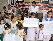 حیدر آباد: عوامی فورم کے تحت جی او آر کالونی کے رہائشی دو معصوم بچوں ..