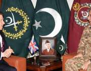 راولپنڈی: آرمی چیف جنرل قمرجاوید باجوہ سے برطانوی نائب مشیر قومی سلامتی ..