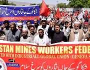 کوئٹہ: پاکستان مائنز ورکرز فیڈریشن کے زیر اہتمام یوم مئی کے موقع پر ..