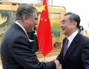 بیجنگ: وزیر خارجہ مخدوم شاہ محمود قریشی چین کے وزیر خارجہ مسٹر وانگ ..
