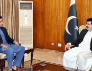اسلام آباد: قائم مقام صدر محمد صادق سنجرانی اوورسیز پاکستانیوں سے وزیر ..
