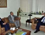 اسلام آباد: وفاقی وزیر برائے اقتصادی امور محمد حماد اظہر سے جاپان کے ..